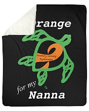 "I wear Orange for my Nanna Sherpa Fleece Blanket - 50"" x 60"" thumbnail"