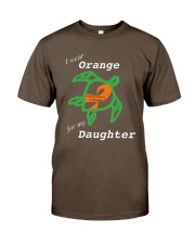 I wear Orange for my Daughter Premium Fit Mens Tee thumbnail