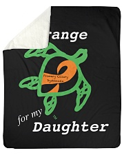 "I wear Orange for my Daughter Sherpa Fleece Blanket - 50"" x 60"" thumbnail"