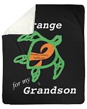 "I wear Orange for my Grandson Sherpa Fleece Blanket - 50"" x 60"" thumbnail"