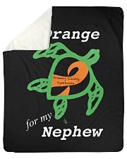 """I wear Orange for my Nephew Sherpa Fleece Blanket - 50"""" x 60"""" thumbnail"""