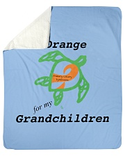 "I wear Orange for my Grandchildren b Sherpa Fleece Blanket - 50"" x 60"" thumbnail"