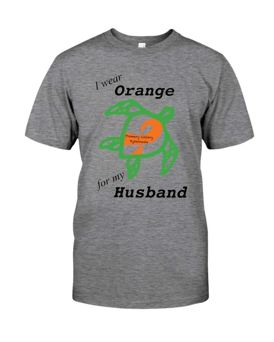 I wear Orange for my Husband b Classic T-Shirt