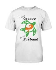 I wear Orange for my Husband b Premium Fit Mens Tee thumbnail
