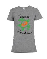 I wear Orange for my Husband b Premium Fit Ladies Tee thumbnail