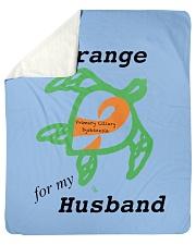 "I wear Orange for my Husband b Sherpa Fleece Blanket - 50"" x 60"" thumbnail"