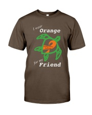 I wear Orange for my Friend Premium Fit Mens Tee thumbnail