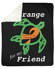"I wear Orange for my Friend Sherpa Fleece Blanket - 50"" x 60"" thumbnail"