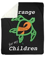 "I wear Orange for my Children Sherpa Fleece Blanket - 50"" x 60"" thumbnail"