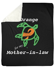 "I wear Orange for my Mother-in-law Sherpa Fleece Blanket - 50"" x 60"" thumbnail"