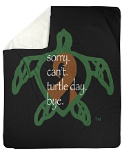 "Sorry Turtle Day Sherpa Fleece Blanket - 50"" x 60"" thumbnail"