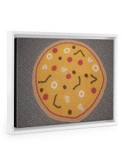 Pizza Aphgan 14x11 White Floating Framed Canvas Prints thumbnail