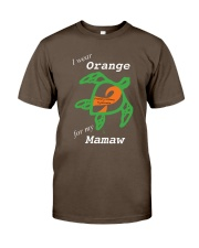 I wear Orange for my Mamaw Premium Fit Mens Tee tile