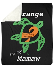 I wear Orange for my Mamaw Sherpa Fleece Blanket tile