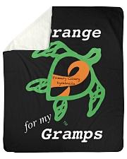 """I wear Orange for my Gramps Sherpa Fleece Blanket - 50"""" x 60"""" thumbnail"""