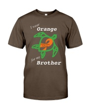 I wear Orange for my Brother Premium Fit Mens Tee thumbnail