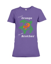 I wear Orange for my Brother Premium Fit Ladies Tee thumbnail