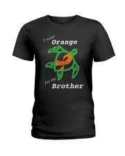 I wear Orange for my Brother Ladies T-Shirt thumbnail