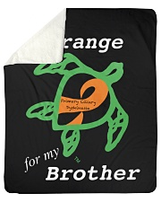 "I wear Orange for my Brother Sherpa Fleece Blanket - 50"" x 60"" thumbnail"