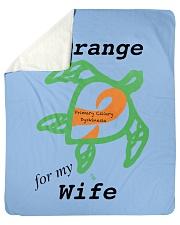 """I wear Orange for my Wife b Sherpa Fleece Blanket - 50"""" x 60"""" thumbnail"""