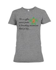 PCD Coffee-Sweatpants-Breathing Treatment Premium Fit Ladies Tee thumbnail