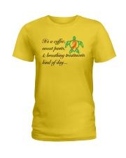 PCD Coffee-Sweatpants-Breathing Treatment Ladies T-Shirt thumbnail