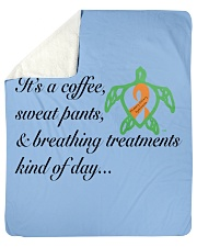"PCD Coffee-Sweatpants-Breathing Treatment Sherpa Fleece Blanket - 50"" x 60"" thumbnail"