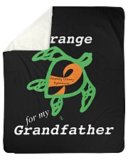 "I wear Orange for my Grandfather Sherpa Fleece Blanket - 50"" x 60"" thumbnail"