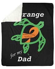 """I wear Orange for my Dad Sherpa Fleece Blanket - 50"""" x 60"""" thumbnail"""