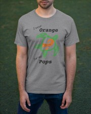 I wear Orange for my Pops b Classic T-Shirt apparel-classic-tshirt-lifestyle-front-42