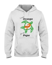 I wear Orange for my Pops b Hooded Sweatshirt tile