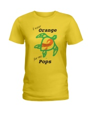 I wear Orange for my Pops b Ladies T-Shirt tile