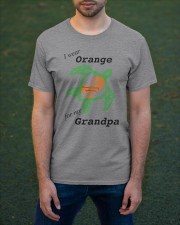 I wear Orange for my Grandpa b Classic T-Shirt apparel-classic-tshirt-lifestyle-front-42