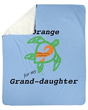 "I wear Orange for my Grand-daughter b Sherpa Fleece Blanket - 50"" x 60"" thumbnail"