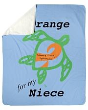 """I wear Orange for my Niece b Sherpa Fleece Blanket - 50"""" x 60"""" thumbnail"""