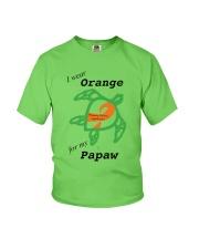 I wear Orange for my Papaw b Youth T-Shirt thumbnail