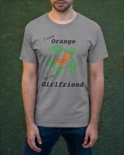 I wear Orange for my Girlfriend b Classic T-Shirt apparel-classic-tshirt-lifestyle-front-42