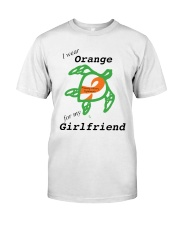 I wear Orange for my Girlfriend b Premium Fit Mens Tee thumbnail