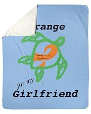 """I wear Orange for my Girlfriend b Sherpa Fleece Blanket - 50"""" x 60"""" thumbnail"""