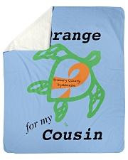 """I wear Orange for my Cousin b Sherpa Fleece Blanket - 50"""" x 60"""" thumbnail"""