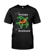 I wear Orange for my Husband Classic T-Shirt front