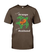 I wear Orange for my Husband Premium Fit Mens Tee thumbnail