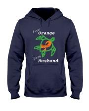 I wear Orange for my Husband Hooded Sweatshirt thumbnail