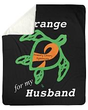 "I wear Orange for my Husband Sherpa Fleece Blanket - 50"" x 60"" thumbnail"