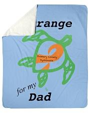 """I wear Orange for my Dad b Sherpa Fleece Blanket - 50"""" x 60"""" thumbnail"""