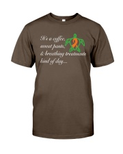 Coffee-Sweatpants-Breathing Treatment kind of Day Premium Fit Mens Tee thumbnail