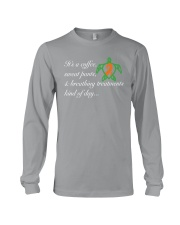Coffee-Sweatpants-Breathing Treatment kind of Day Long Sleeve Tee thumbnail