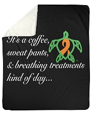 "Coffee-Sweatpants-Breathing Treatment kind of Day Sherpa Fleece Blanket - 50"" x 60"" thumbnail"