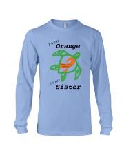 I wear Orange for my Sister b Long Sleeve Tee thumbnail