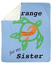 """I wear Orange for my Sister b Sherpa Fleece Blanket - 50"""" x 60"""" thumbnail"""